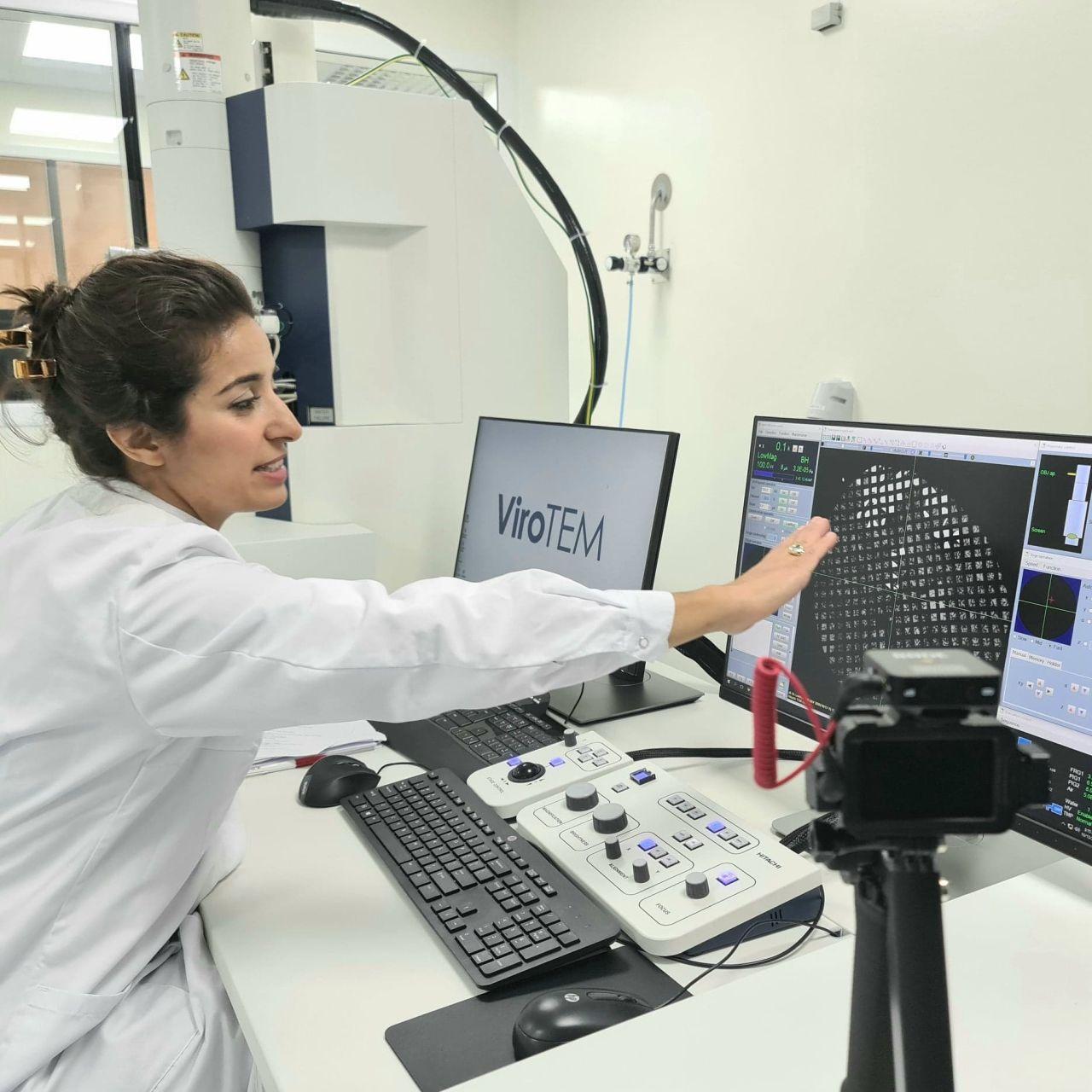 Saba Husein-Gore-ViroTEM-at-Vironova-Lab-Stockholm-HQ