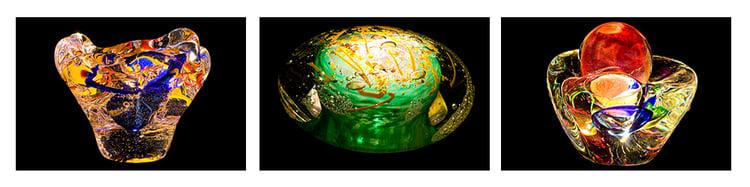 Virus Art glass sculptures by Jim Johnsson