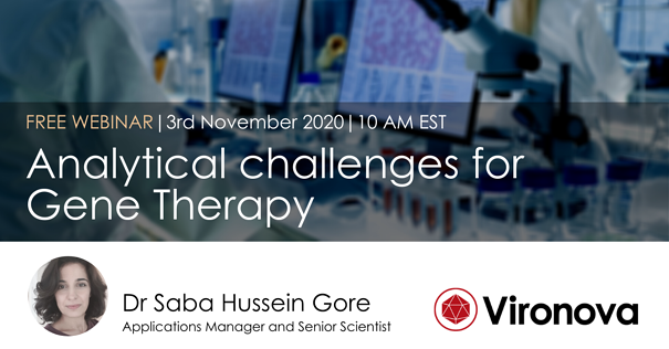 Webinar 3rd Nov 2020 Analytical Challenges for Gene Therapy